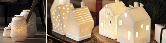 räder Häuser und Kerzen